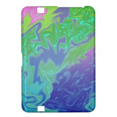 Green Blue Pink Color Splash Kindle Fire Hd 8 9  by BrightVibesDesign
