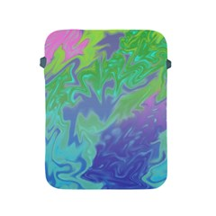 Green Blue Pink Color Splash Apple Ipad 2/3/4 Protective Soft Cases by BrightVibesDesign