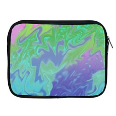 Green Blue Pink Color Splash Apple Ipad 2/3/4 Zipper Cases by BrightVibesDesign