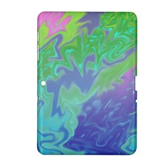 Green Blue Pink Color Splash Samsung Galaxy Tab 2 (10 1 ) P5100 Hardshell Case  by BrightVibesDesign