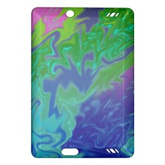 Green Blue Pink Color Splash Amazon Kindle Fire Hd (2013) Hardshell Case by BrightVibesDesign