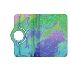 Green Blue Pink Color Splash Kindle Fire Hd (2013) Flip 360 Case by BrightVibesDesign
