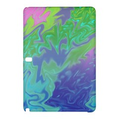 Green Blue Pink Color Splash Samsung Galaxy Tab Pro 10 1 Hardshell Case by BrightVibesDesign
