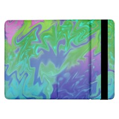 Green Blue Pink Color Splash Samsung Galaxy Tab Pro 12 2  Flip Case