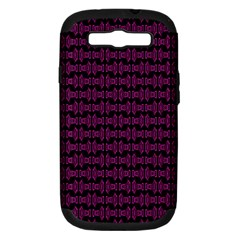 Pink Black Retro Tiki Pattern Samsung Galaxy S Iii Hardshell Case (pc+silicone) by BrightVibesDesign