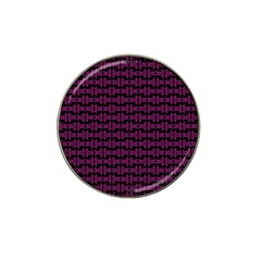 Pink Black Retro Tiki Pattern Hat Clip Ball Marker (10 Pack) by BrightVibesDesign
