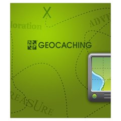 Geocaching Pouch For Ange Heureux By Ange Lefrère   Drawstring Pouch (small)   Mgx2nvop5ayh   Www Artscow Com Front