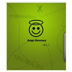 Geocaching Pouch For Ange Heureux By Ange Lefrère   Drawstring Pouch (small)   Mgx2nvop5ayh   Www Artscow Com Back