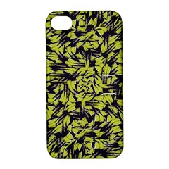 Modern Abstract Interlace Apple Iphone 4/4s Hardshell Case With Stand by dflcprints