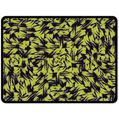 Modern Abstract Interlace Double Sided Fleece Blanket (large)  by dflcprints