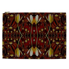 Fantasy Flowers And Leather In A World Of Harmony Cosmetic Bag (xxl)  by pepitasart