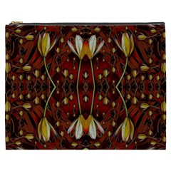 Fantasy Flowers And Leather In A World Of Harmony Cosmetic Bag (xxxl)  by pepitasart