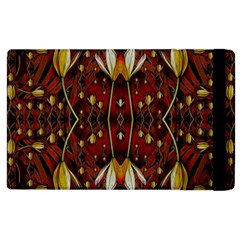 Fantasy Flowers And Leather In A World Of Harmony Apple Ipad 3/4 Flip Case by pepitasart