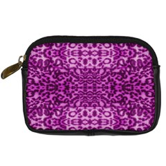 Lion In Purple Digital Camera Cases by pepitasart
