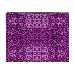 Lion In Purple Cosmetic Bag (xl) by pepitasart