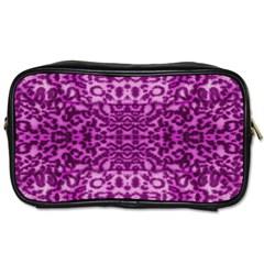 Lion In Purple Toiletries Bags 2 Side by pepitasart