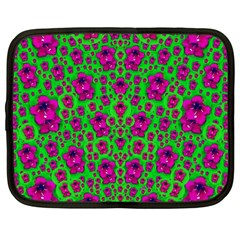 Fantasy Valentine In Floral Love And Peace Time Netbook Case (large)