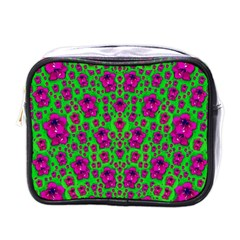 Fantasy Valentine In Floral Love And Peace Time Mini Toiletries Bags