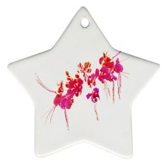 Minimal Floral Print Ornament (star)  by dflcprints
