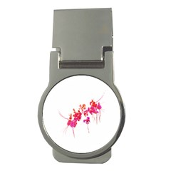 Minimal Floral Print Money Clips (round)  by dflcprints