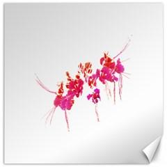 Minimal Floral Print Canvas 16  X 16   by dflcprints