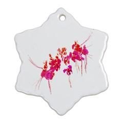 Minimal Floral Print Ornament (snowflake)  by dflcprints