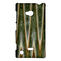 Green Brown Zigzag Nokia Lumia 720 by BrightVibesDesign