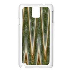 Green Brown Zigzag Samsung Galaxy Note 3 N9005 Case (white) by BrightVibesDesign