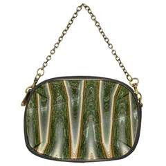 Green Brown Zigzag Chain Purses (two Sides)  by BrightVibesDesign