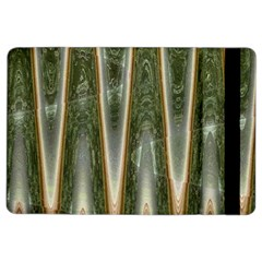 Green Brown Zigzag Ipad Air 2 Flip by BrightVibesDesign