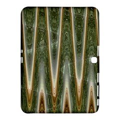 Green Brown Zigzag Samsung Galaxy Tab 4 (10 1 ) Hardshell Case  by BrightVibesDesign