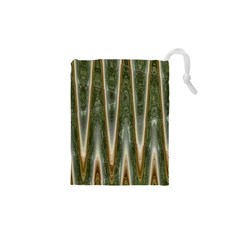 Green Brown Zigzag Drawstring Pouches (xs)  by BrightVibesDesign