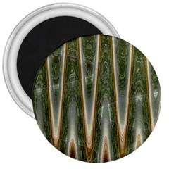 Green Brown Zigzag 3  Magnets by BrightVibesDesign