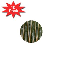 Green Brown Zigzag 1  Mini Magnet (10 Pack)  by BrightVibesDesign