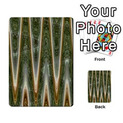 Green Brown Zigzag Multi-purpose Cards (Rectangle)  by BrightVibesDesign