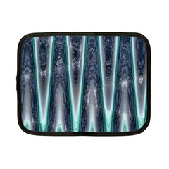 Blue Turquoise Zigzag Pattern Netbook Case (small)  by BrightVibesDesign