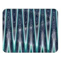 Blue Turquoise Zigzag Pattern Double Sided Flano Blanket (large)  by BrightVibesDesign