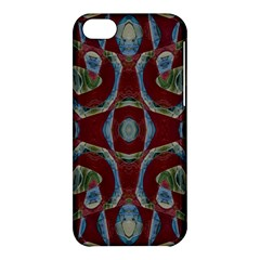 Fancy Maroon Blue Design Apple Iphone 5c Hardshell Case by BrightVibesDesign