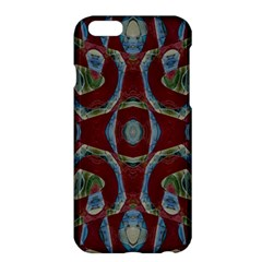 Fancy Maroon Blue Design Apple Iphone 6 Plus/6s Plus Hardshell Case by BrightVibesDesign