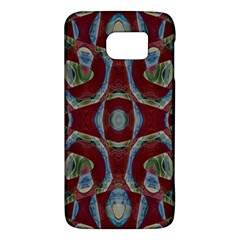 Fancy Maroon Blue Design Galaxy S6 by BrightVibesDesign
