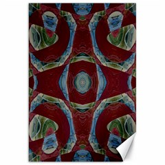 Fancy Maroon Blue Design Canvas 20  X 30   by BrightVibesDesign