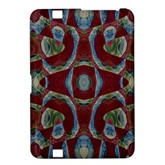 Fancy Maroon Blue Design Kindle Fire Hd 8 9  by BrightVibesDesign