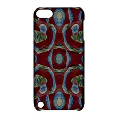 Fancy Maroon Blue Design Apple Ipod Touch 5 Hardshell Case With Stand by BrightVibesDesign