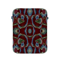 Fancy Maroon Blue Design Apple Ipad 2/3/4 Protective Soft Cases by BrightVibesDesign
