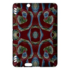 Fancy Maroon Blue Design Kindle Fire Hdx Hardshell Case by BrightVibesDesign