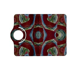 Fancy Maroon Blue Design Kindle Fire Hd (2013) Flip 360 Case by BrightVibesDesign