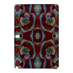 Fancy Maroon Blue Design Samsung Galaxy Tab Pro 10 1 Hardshell Case by BrightVibesDesign