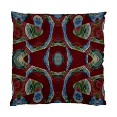 Fancy Maroon Blue Design Standard Cushion Case (One Side) by BrightVibesDesign