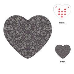 Geometric Boho Print Playing Cards (heart)  by dflcprints