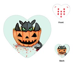 Halloween Dragon Playing Cards (Heart)  by lvbart